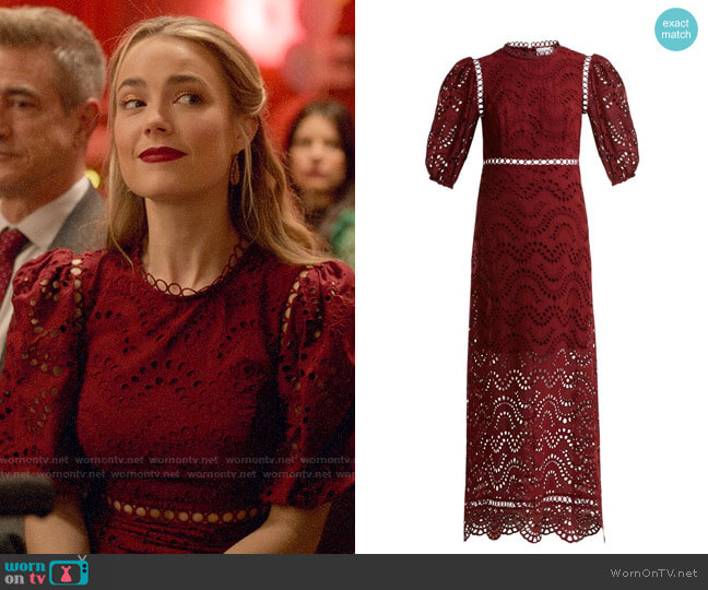 Zimmermann Jaya Wave Cotton Dress worn by Ainsley Howard (Rebecca Rittenhouse) on Four Weddings & a Funeral