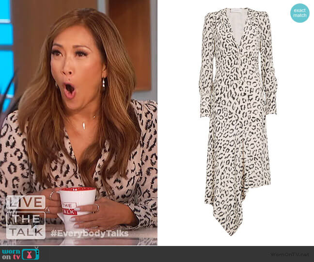 Eden Dress by A.L.C. worn by Carrie Inaba  on The Talk