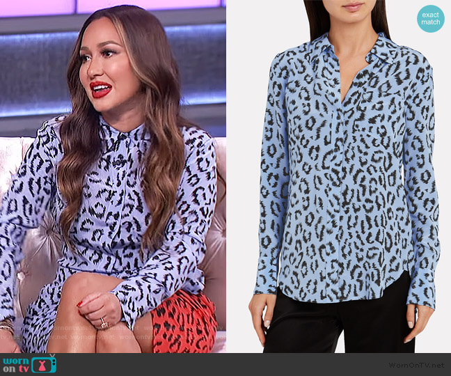 Emerson Leopard Shirt by A.L.C. worn by Adrienne Houghton  on The Real