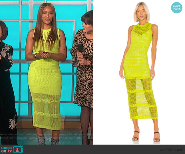 Monaghan Sleeveless Crochet Dress by A.L.C. worn by Eve  on The Talk