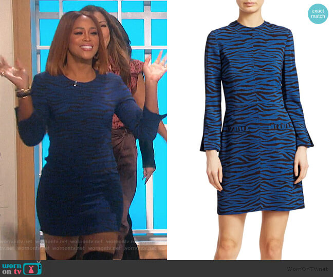 Noelle Tiger-Print Dress by A.L.C. worn by Eve  on The Talk
