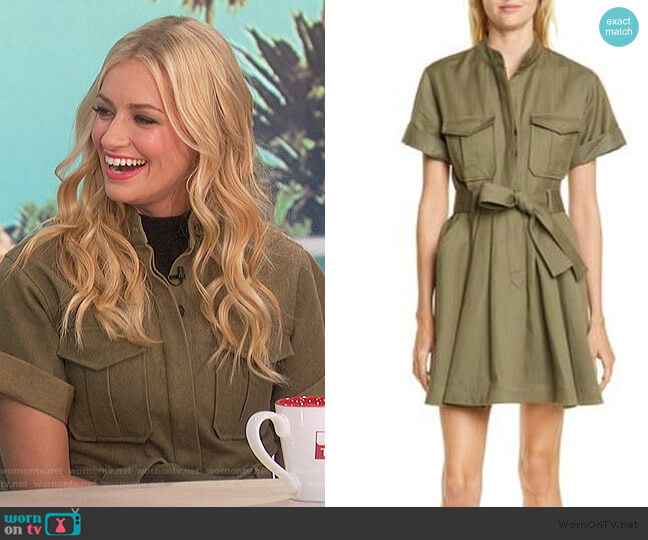 Bryn Belted A-Line Dress by A.L.C. worn by Beth Behrs on The Talk