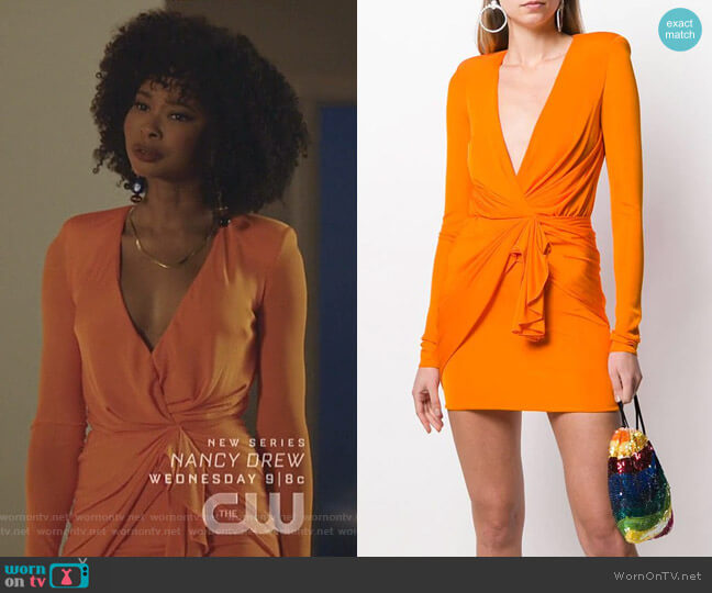 Jersey Dress by Alexandre Vauthier worn by Monica Colby (Wakeema Hollis) on Dynasty