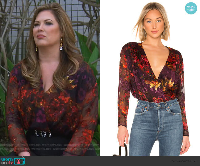 Maren Bodysuit by ASTR The Label worn by Emily Simpson  on The Real Housewives of Orange County