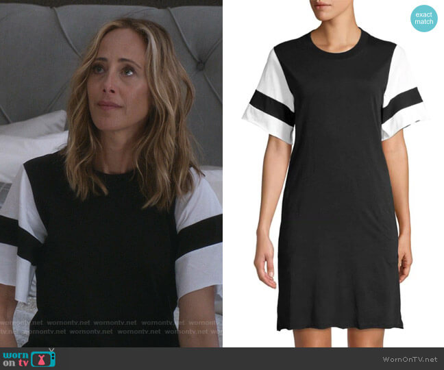 Classic Jersey T-Shirt Dress by ATM Anthony Thomas Melillo worn by Kim Raver on Greys Anatomy