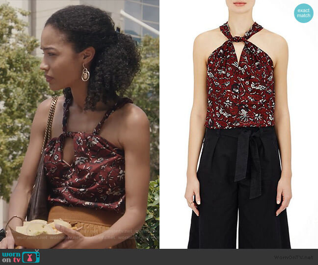 Acan Floral Cotton Top by Isabel Marant Etoile worn by Erinn Westbrook on The Resident