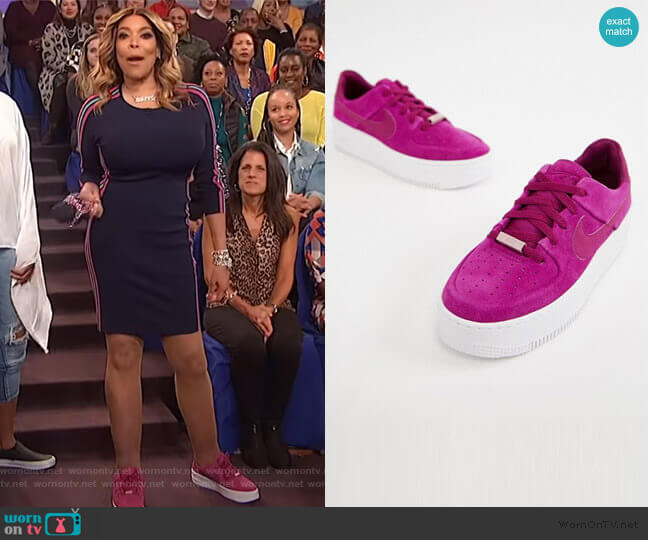 Air Force 1 Sage Sneakers in Berry by Nike worn by Wendy Williams  on The Wendy Williams Show