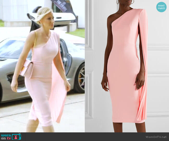 Lorin One-Shoulder Dress by Alex Perry worn by Stephanie Hollman  on The Real Housewives of Dallas