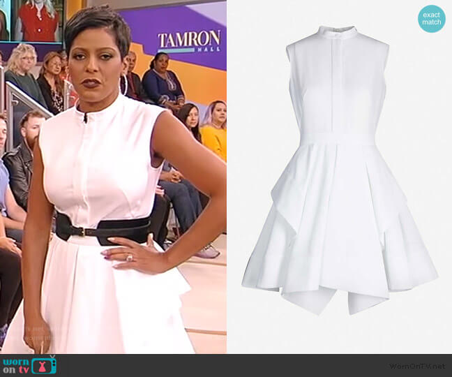 Panelled cotton-pique mini dress by Alexander McQueen worn by Tamron Hall  on Tamron Hall Show