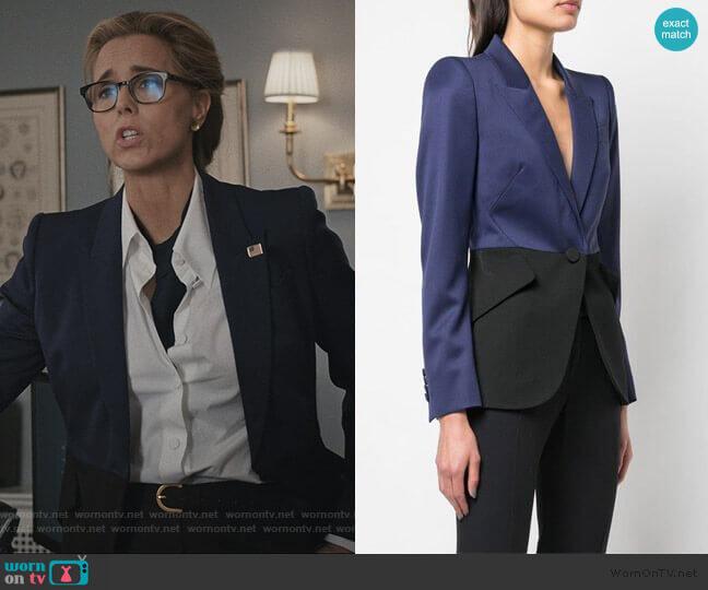 Two-tone Tailored Blazer by Alexander McQueen worn by Elizabeth McCord (Téa Leoni) on Madam Secretary
