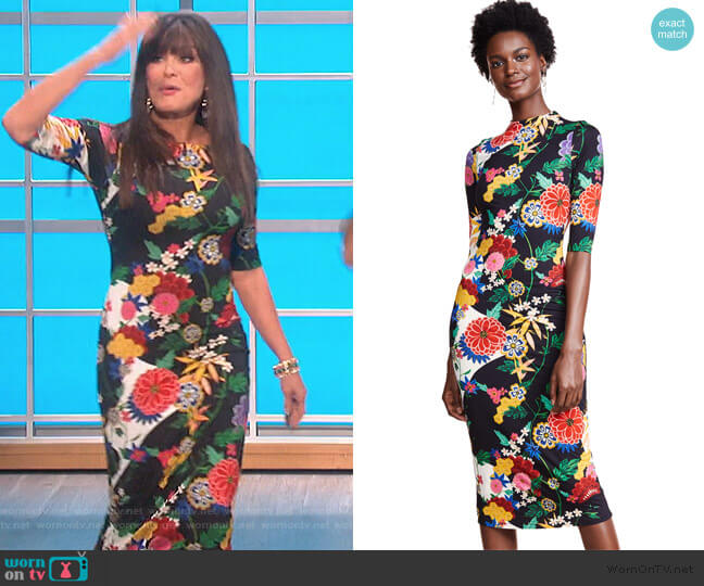 Delora Fitted Midi Dress by Alice + Olivia worn by Marie Osmond  on The Talk