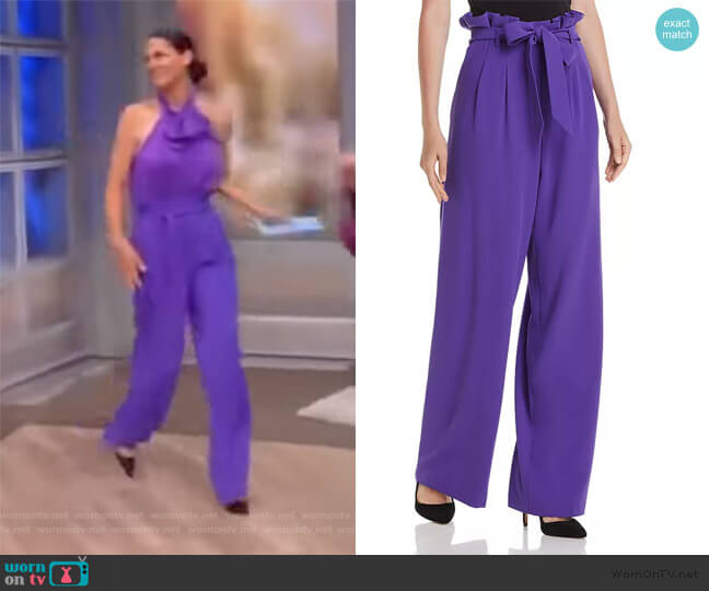 Farrel Pleated Paperbag-Waist Pants by Alice + Olivia worn by Abby Huntsman  on The View