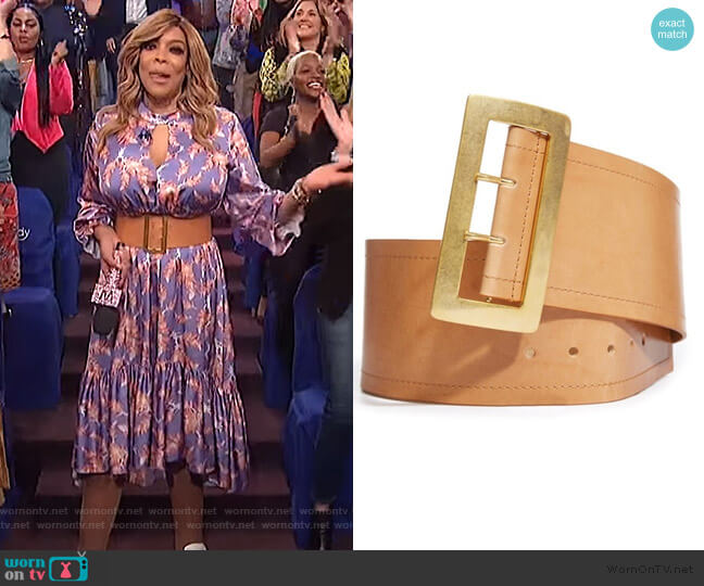 Kylie Belt by Alice + Olivia worn by Wendy Williams  on The Wendy Williams Show
