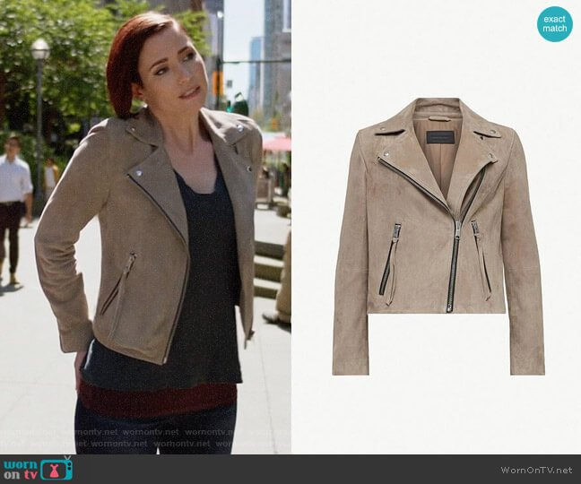 All Saints Dalby Suede Jacket worn by Alex Danvers (Chyler Leigh) on Supergirl