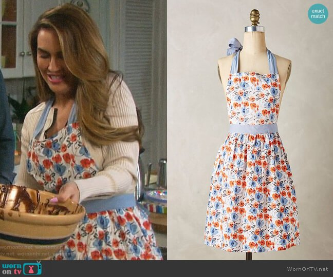Anthropologie Lucerne Apron worn by Jordan Ridgeway (Chrishell Hartley) on Days of our Lives