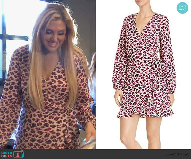 Leopard Print Wrap Dress by Aqua worn by Gina Kirschenheiter  on The Real Housewives of Orange County