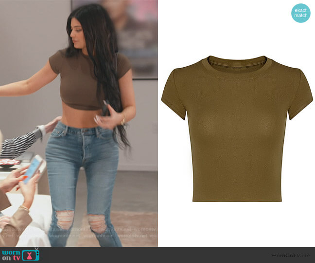 Mini Tee by Baesik by Gia worn by Kylie Jenner  on Keeping Up with the Kardashians