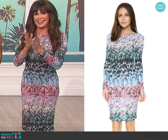Violetta Dress by BCBGMAXAZRIA worn by Marie Osmond  on The Talk