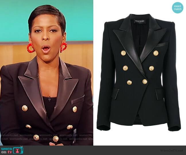 Button Embellished Blazer by Balmain worn by Tamron Hall  on Tamron Hall Show