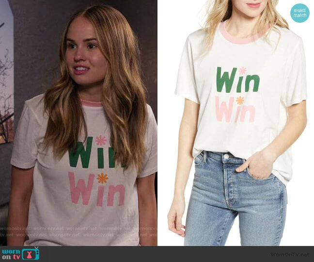 Win Win Ringer Tee by Ban.do worn by Patty Bladell (Debby Ryan) on Insatiable