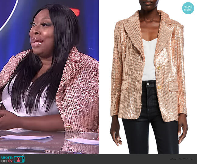 Sequin Two-Button Blazer by Berek worn by Loni Love  on The Real