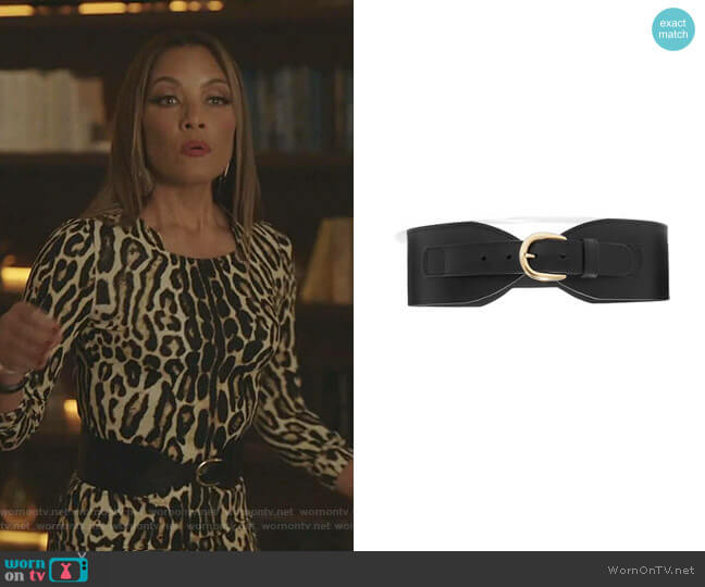Leather Waist Belt by Black & Brown worn by Dominique Deveraux (Michael Michele) on Dynasty