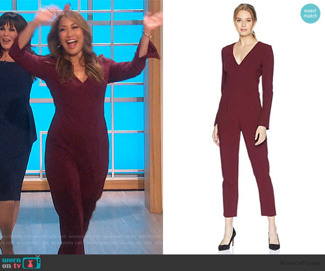 Sambora Jumpsuit by Black Halo worn by Carrie Inaba  on The Talk