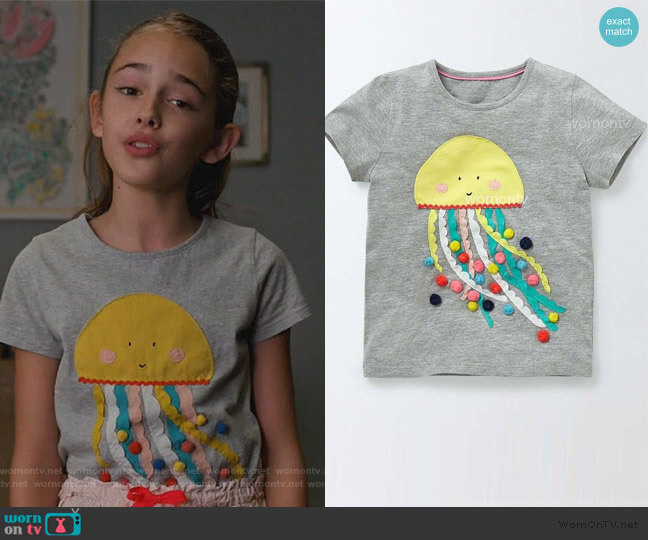 Jellyfish Tee by Target worn by Anna-Kat Otto (Julia Butters) on American Housewife