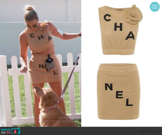 Two-Piece Ensemble & Camellia by Chanel worn by Khloe Kardashian  on Keeping Up with the Kardashians