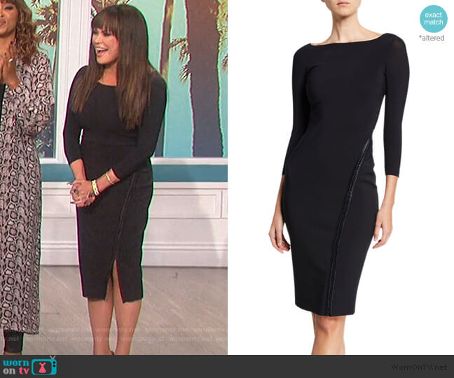 Long-Sleeve Hook-&-Eye Dress by Chiara Boni La Petite Robe worn by Marie Osmond  on The Talk