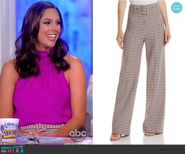 Eliza Wide-Leg Plaid Pants by Cinq a Sept worn by Abby Huntsman  on The View