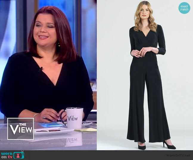 Signature 3/4 Sleeve Jumpsuit by Clara Sunwoo worn by Ana Navarro  on The View