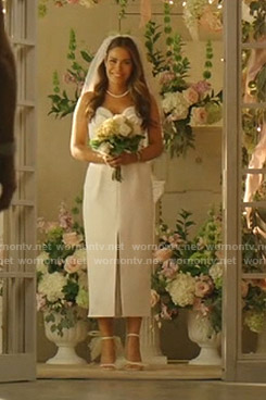 Cristal's wedding dress on Dynasty