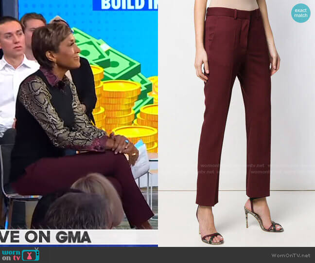 Cropped Trousers by Victoria Beckham worn by Robin Roberts  on Good Morning America