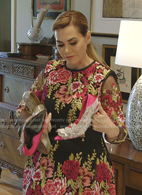 D'Andra's floral embroidered gown on The Real Housewives of Dallas