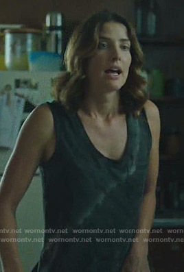 Dex's black tie dye tank top on Stumptown