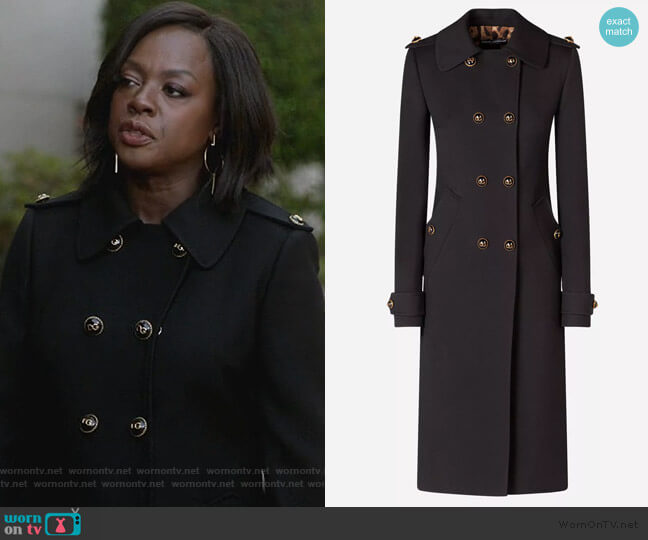 Double Breasted Coat by Dolce & Gabbana worn by Annalise Keating (Viola Davis) on HTGAWM