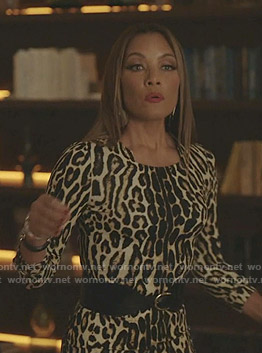 Dominique's leopard print dress on Dynasty