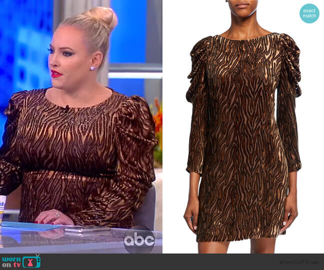 Alex Bateau-Neck Ruched Dress by Elie Tahari worn by Meghan McCain  on The View