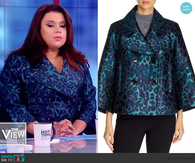 Edna Leopard Jacquard Jacket by Elie Tahari worn by Ana Navarro  on The View