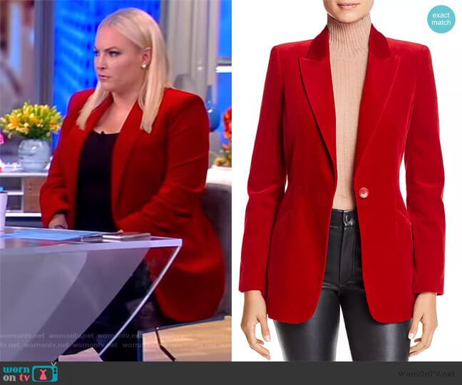 Madison Velvet Blazer by Elie Tahari worn by Meghan McCain  on The View