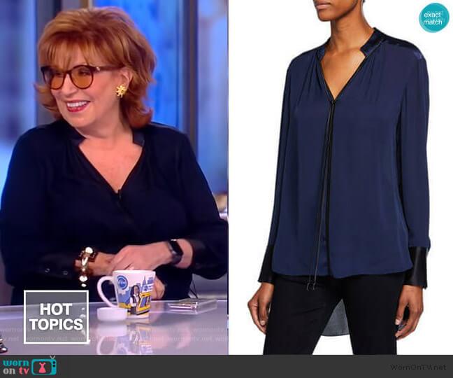 Shree Blouse by Elie Tahari worn by Joy Behar  on The View