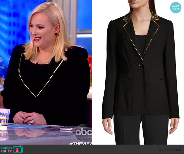 Stella Studded-Lapel Blazer by Elie Tahari worn by Meghan McCain  on The View