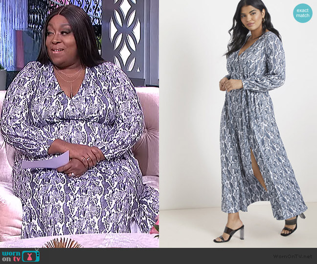 Maxi Wrap Dress by Eloquii worn by Loni Love  on The Real
