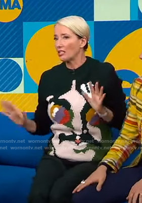 Emma Thompson's John Lennon Sweater on Good Morning America
