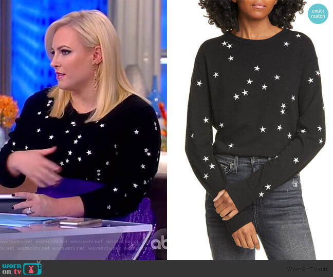 Nartelle Embroidered Star Sweater by Equipment worn by Meghan McCain  on The View