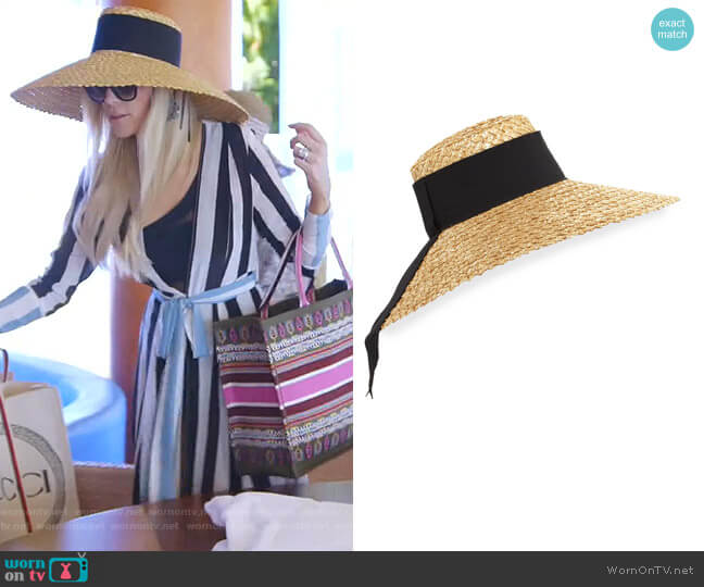 Mirabel Natural Straw Hat by Eugenia Kim worn by Kameron Westcott  on The Real Housewives of Dallas