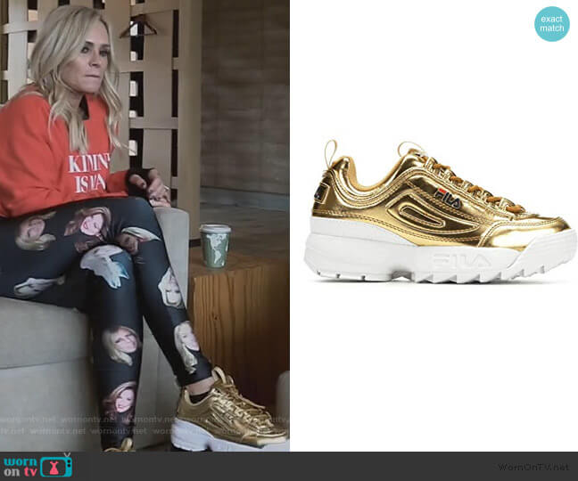 Disruptor ll Sneaker by Fila worn by Tamra Judge  on The Real Housewives of Orange County