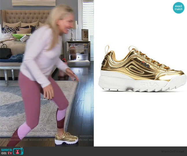 Disruptor ll Sneaker by Fila worn by Shannon Beador  on The Real Housewives of Orange County