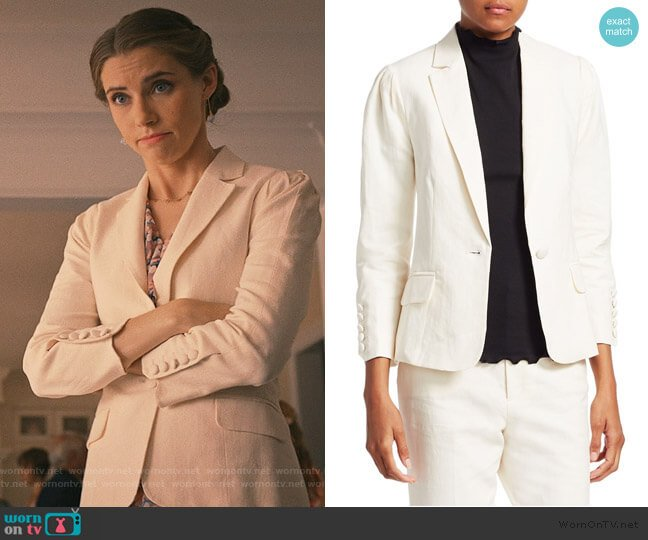 Clean Pleated Blazer by Frame Denim worn by Stephanie 'Stevie' McCord (Wallis Currie-Wood) on Madam Secretary